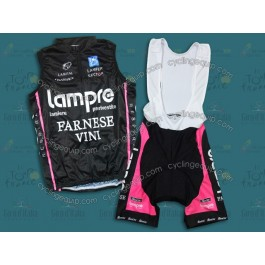 Lampre Black Limit Edition Cycling Vest And Bib Shorts Set