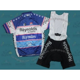 Reynolds Reynolon throwback Blue Cycling Jersey And Bib Shorts Set