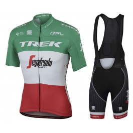 2017 Trek Segafredo Italian Champion Cycling Jersey And Bib Shorts Set