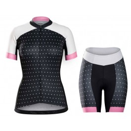 2017 Bontrager Anara Women's Black Cycling Jersey And Shorts Kit