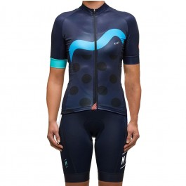 2017 Maap Women's M Dot Blue Cycling Jersey And Bib Shorts Kit