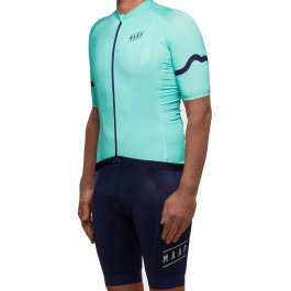 2017 Maap Summer Base Light Blue Cycling Jersey And Bib Shorts Kit