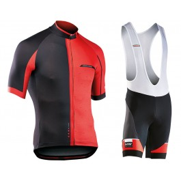 2017 Northwave Blade 1.0 Black-Red Cycling Jersey And Bib Shorts Kit