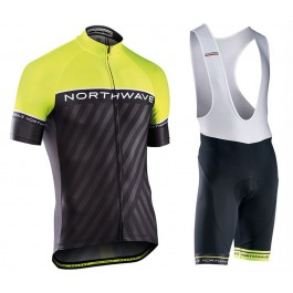 2017 Northwave Logo 3 Yellow Cycling Jersey And Bib Shorts Kit