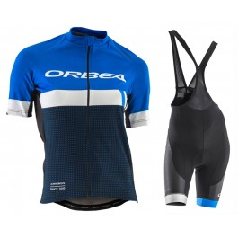 2017 Orbea Club Women's Blue Cycling Jersey And Bib Shorts Kit