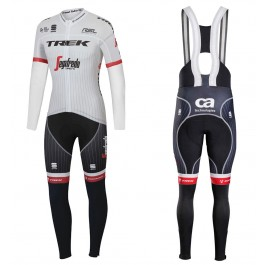 2017 Trek Segafredo Tour de France Long Sleeve Cycling Jersey And Bib Pants Kit