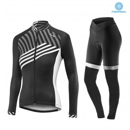 2017 Liv Accelerate Women's Black-White Thermal Cycling Jersey And Pants Kit