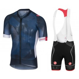 2018 Castelli Climber's 2.0 Blue Cycling Jersey And Bib Shorts Kit