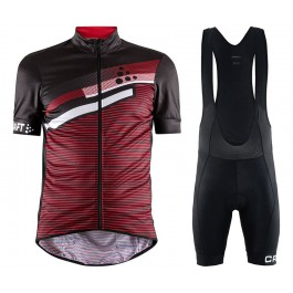 2018 Craft Reel Graphic Red Cycling Jersey And Bib Shorts Kit