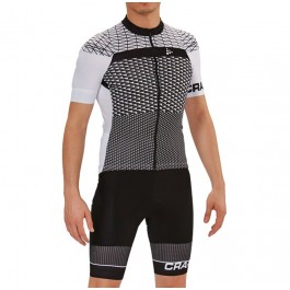 2018 Craft Route White Cycling Jersey And Bib Shorts Kit