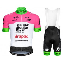 2018 EF Drapac Cannondale Cycling Jersey And Bib Shorts Kit