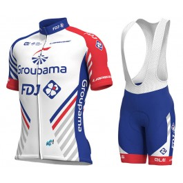 2018 Team FDJ White Cycling Jersey And Bib Shorts Kit