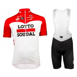 2018 Lotto Soudal Red Cycling Jersey And Bib Shorts Kit