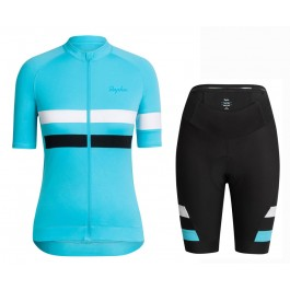 2016 Team Sky Blue Women Cycling Jersey And Regular Shorts Set
