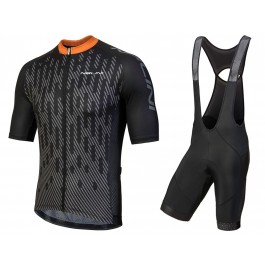 2018 Nalini Podio Black Cycling Jersey And Bib Shorts Kit