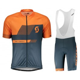 2018 SCOTT-TEAM 1.0 Orange Cycling Jersey And Bib Shorts Kit