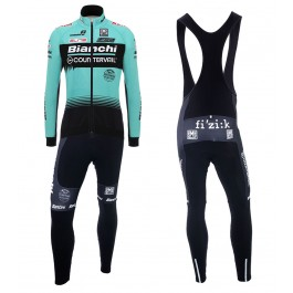 2018 Team Bianchi Countervail Long Sleeve Cycling Jersey And Bib Pants Kit