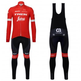 2018 Trek Segafredo Red Long Sleeve Cycling Jersey And Bib Pants Kit