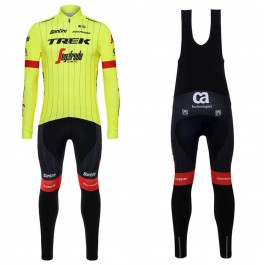 2018 Trek Segafredo Yellow Long Sleeve Cycling Jersey And Bib Pants Kit