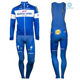 2018 Quick Step Team Thermal Cycling Jersey And Bib Pants Kit