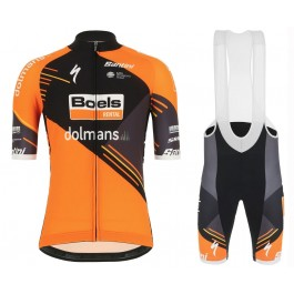 2019 Boels Dolmans Orange Cycling Jersey And Bib Shorts Kit