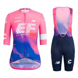 2019 Rapha EF Education Pink Women's Cycling Jersey And Bib Shorts Kit