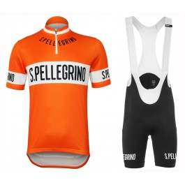 San Pellegrino 1976 Retro Orange Cycling Jersey And Bib Shorts Kit
