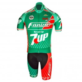 Retro Fanini 7 UP Green Cycling Jersey And Bib Shorts Kit