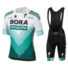 2019 Bora Hansgrohe TDF White Cycling Jersey And Bib Shorts Kit