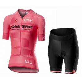 2019 Giro D'Italy Maglia Rosa Women's Cycling Jersey And Shorts Kit