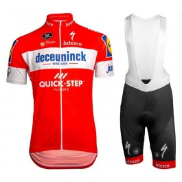 2019 Deceuninck Quick Step TDF Red Cycling Jersey And Bib Shorts Kit