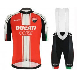 2019 Ducati Red Team Cycling Jersey And Bib Shorts Kit