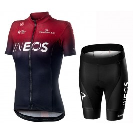2019 INEOS Team Red Women's Cycling Jersey And Shorts Kit