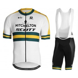 2019 Scott Mitchelton Austria Champion Cycling Jersey And Bib Shorts Kit