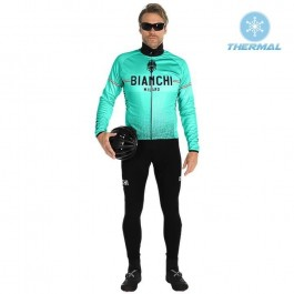 2019 Bianchi Milano XD Green Thermal Cycling Jersey And Bib Pants Kit