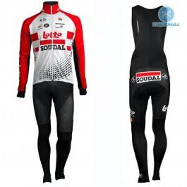 2019 Team Lotto Red Thermal Cycling Jersey And Bib Pants Kit