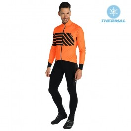2019 Santini Svolta Orange Thermal Cycling Jersey And Bib Pants Kit