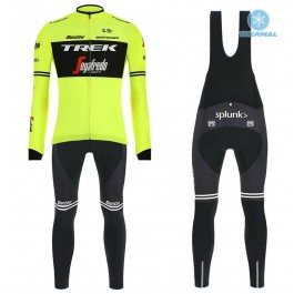 2019 Trek Factory Racing Yellow Thermal Cycling Jersey And Bib Pants Kit
