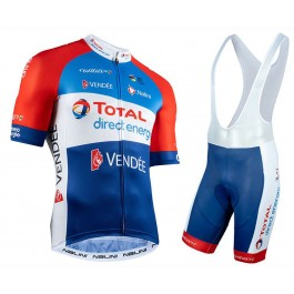 2020 TOTAL Direct Energie Cycling Jersey And Bib Shorts Kit