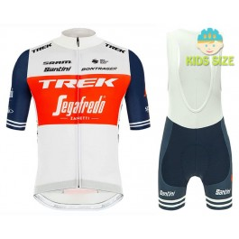 2020 TREK-SEGAFREDO Pro Team Kids Cycling Jersey And Shorts Kit