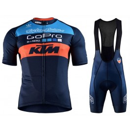 2017 KTM Team Blue-Orange Cycling Jersey And Bib Shorts Set