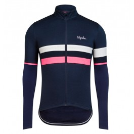 2017 Rapha Brevet Blue-Pink Long Sleeve Cycling Jersey