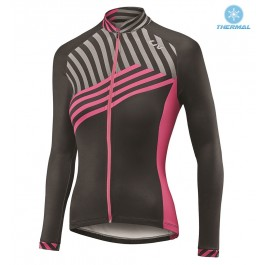 2017 Liv Accelerate Women's Black-Pink Thermal Long Sleeve Cycling Jersey