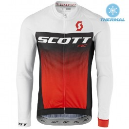 2017 Scott RC White-Black-Red Thermal Long Sleeve Cycling Jersey