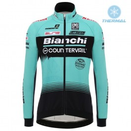2018 Team Bianchi Countervail Thermal Long Sleeve Cycling Jersey