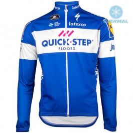 2018 Quick Step Team Thermal Long Sleeve Cycling Jersey
