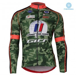 2018 Armee De Terre Camouflage Thermal Long Sleeve Cycling Jersey