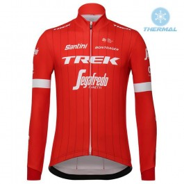 2018 Trek Segafredo Red Thermal Long Sleeve Cycling Jersey