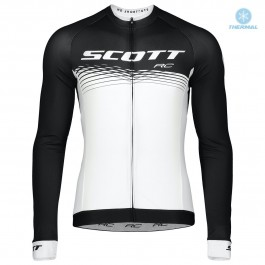 2019 Scott-RC PRO Black-White Thermal Long Sleeve Cycling Jersey