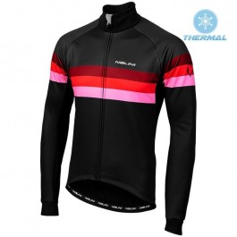 2019 Nalini Warm 2.0 Black-Red Thermal Long Sleeve Cycling Jersey